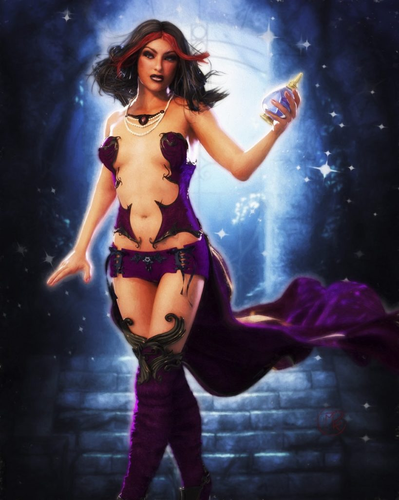 Zaede Purple Storm from Rada Quest Trading Card Game
